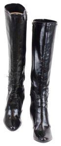 Marc Fisher Faux Black Silver Boots