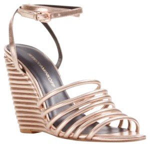 Rebecca Minkoff Rose Gold Wedges