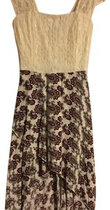 Charlotte Russe short dress Ivory and maroon on Tradesy