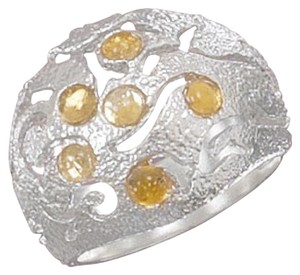 Other Sterling Silver Domed Ring with Citrine