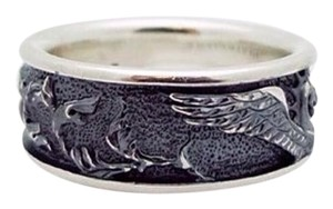 David Yurman David Yurman, size 10.25 - 10.5, .925 sterling silver, dragon, mythic creature, fashion, unisex, designer Petrvs Griffin Ring / Band