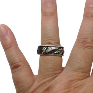 David Yurman Sterling, Petrvs Griffin, designer Ring, Band