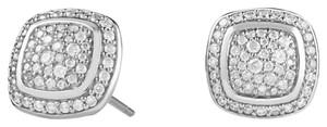 David Yurman David Yurman 'Albion' Earrings with Diamond Studs Pave Medium Size 11mm x 11mm
