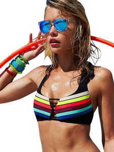 Victoria's Secret New VS Caged Halter Swim Bra S (AA-C)