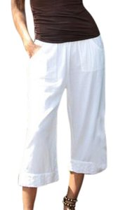 Lirome Summer Resort Vacation Capris White