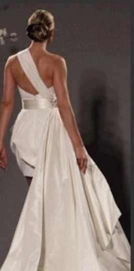 Ivory Satin Sexy Wedding Dress Size 6 (S)