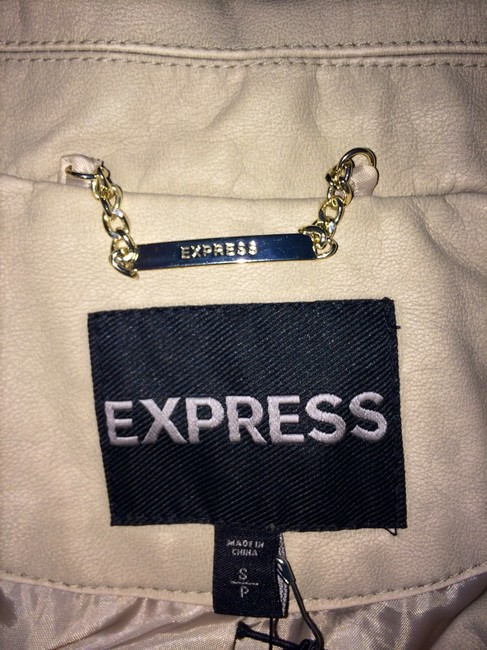 Express Faux Studded Fitted Bone Leather Jacket Image 2