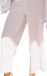Lirome Boho Resort Summer Relaxed Pants White