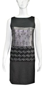 Tory Burch Sleeveless Wool Silk Metallic Dress