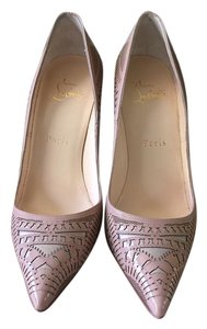Christian Louboutin Kristali Laser Cut So Kate Nude Pumps
