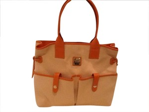 Dooney & Bourke Satchel in Orange/white