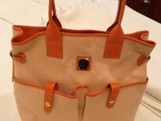 Dooney & Bourke Satchel in Orange/white Image 1
