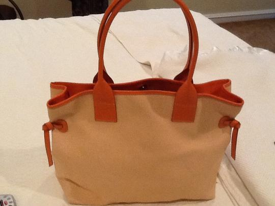 Dooney & Bourke Satchel in Orange/white Image 2