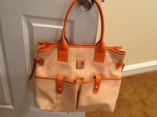 Dooney & Bourke Satchel in Orange/white Image 4