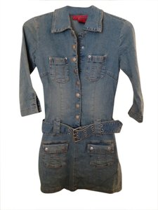 Hot Kiss short dress Stonewashed Denim on Tradesy