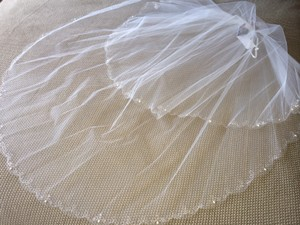 Ivory Two-layer Fingertip Veil By Uk Brand Richard's Designs