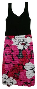 Sangria short dress black, pink, and white on Tradesy