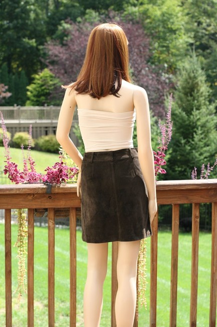 Ann Taylor Suede Leather Mini Mini Skirt Brown Image 5