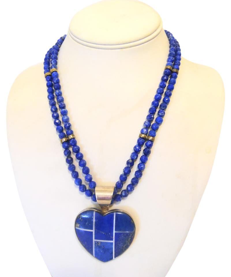 lazuli amazon silver dp bead sterling com lapis necklace quot