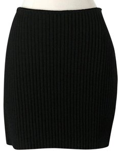 Versus Versace Wool Suede Mini Skirt Black
