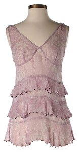 Plenty by Tracy Reese Lace Tiered Ruffle Top Pink