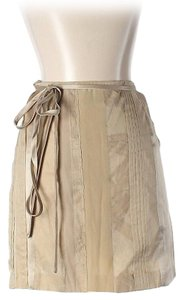Philosophy di Alberta Ferretti Silk Mini Skirt Tan