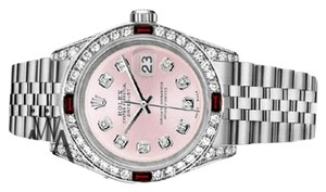 Rolex Women's Rolex Datejust 31mm S/S Metallic Pink Dial with Ruby & Diamond Watch