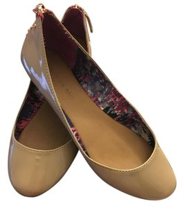 Madden Girl Edgy Rose Gold Patent Leather Nude Flats