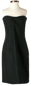 Trina Turk Strapless Textured Shift Sheath Dress