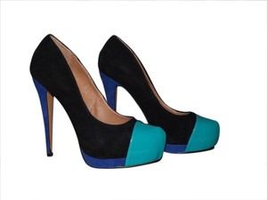 ALDO Black/Teal/Navy Blue Pumps