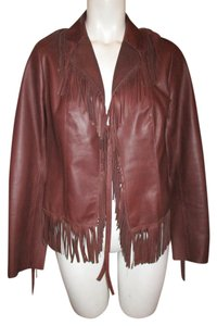 Fringe Leather brown Leather Jacket
