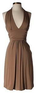 Nicole Miller Fit & Flare Halter Dress