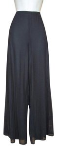 J.R. Nites Wideleg Mesh Party Elastic Wide Leg Pants Black
