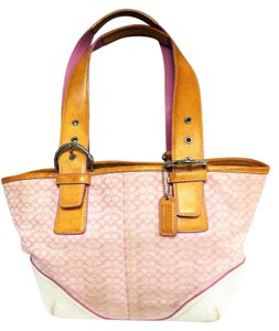 Coach Monogram Leather & Fabric Hobo Bag