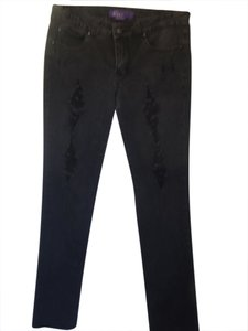 BCBGMAXAZRIA Straight Leg Jeans-Distressed