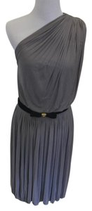Gucci Silk Pleated One Shoulder Dress