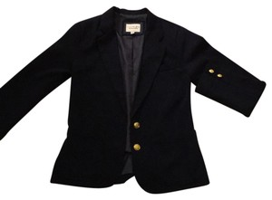 Forever 21 Navy blue and gold buttoned Blazer