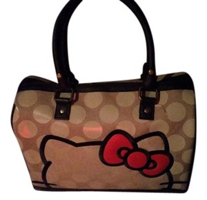 Hello Kitty Tote in light grayish with black