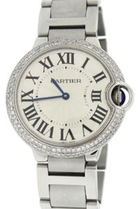 Cartier Cartier Ballon Bleu Midsize 36MM Watch Box&Papers W69017Z4 w/Diamond Bezel - ESW