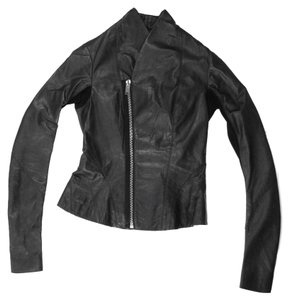 Rick Owens Asymmetrical Motorcycle Leather Jacket