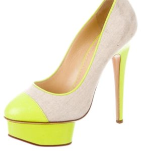 Charlotte Olympia Yellow and tan Platforms