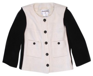 Chanel Tweed Spring Navy Black White Multi Jacket