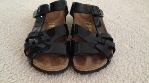 Birkenstock Black Patent Sandals