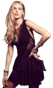 Free People Mesh Lace Sheer Party Dress