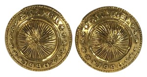 Chanel Gold Button Clip-on Earrings