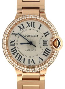 Cartier Cartier Ballon Bleu Pink Gold Original Diamond Watch WE9005Z3 $50,500 Box&Papers