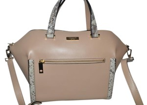 Kate Spade New With Tags Satchel in tan afoot snake