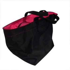 Herve Chapelier Tote in Black and Pink
