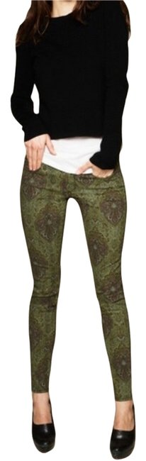 Item - Paisley Green Skinny Jeans Size 26 (2, XS)