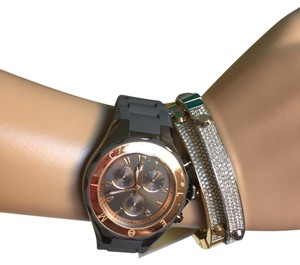 Michele NWT MICHELE JELLY BEAN ROSE Gold /GRAY WATCHMWW12F000064